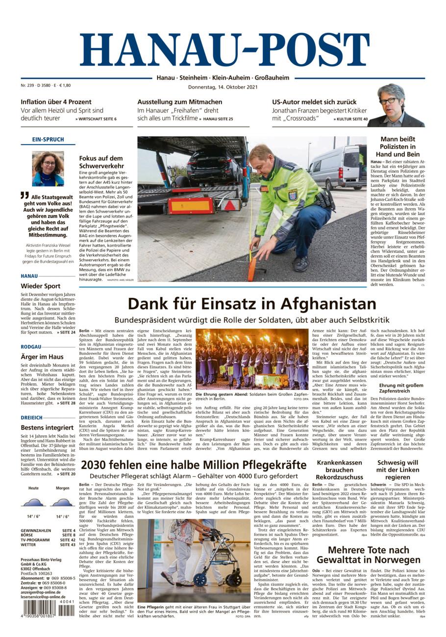 Hanau-Post vom Donnerstag, 14.10.2021