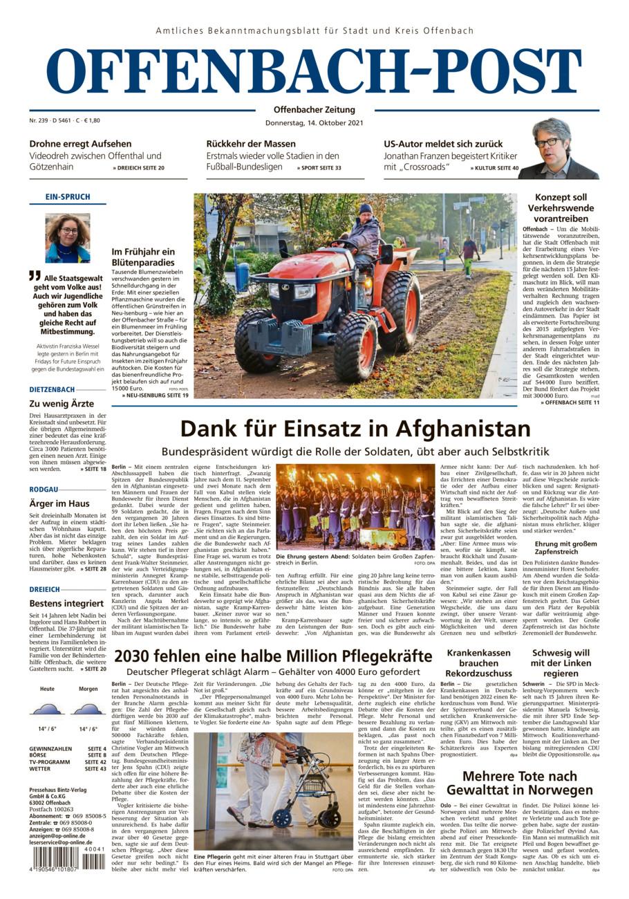 Offenbach-Post West vom Donnerstag, 14.10.2021