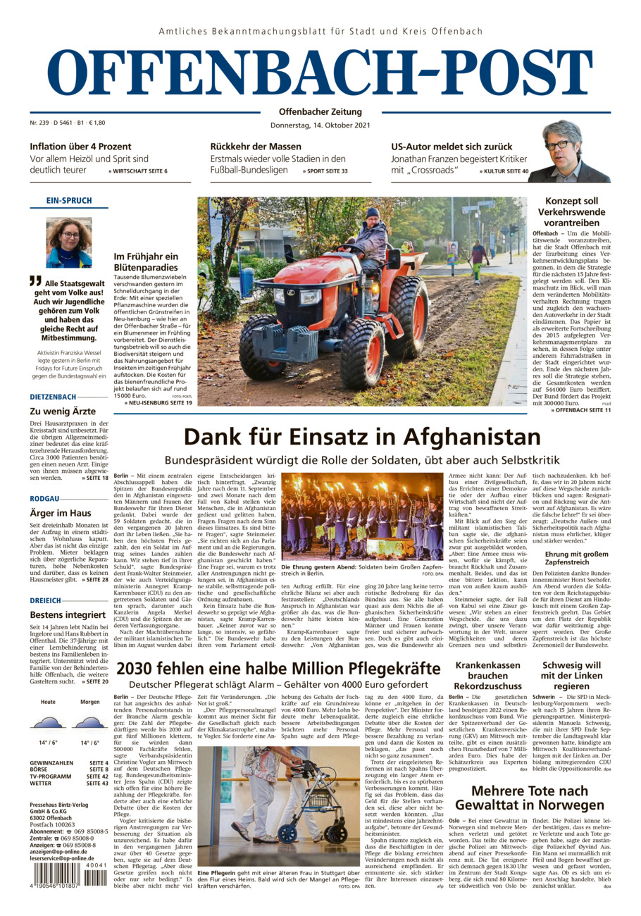 Offenbach-Post Ostkreis vom Donnerstag, 14.10.2021