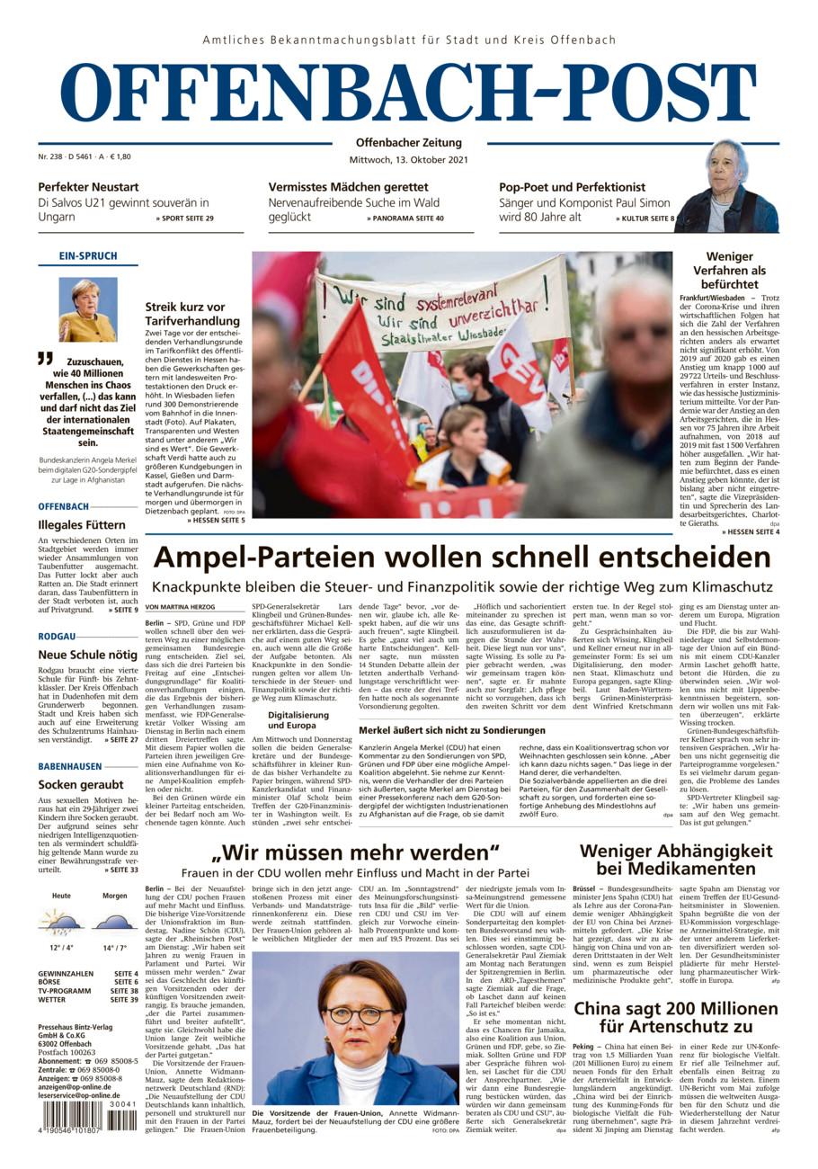 Offenbach-Post vom Mittwoch, 13.10.2021